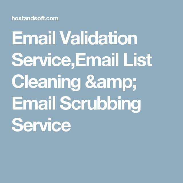 Email Validation Service,Email List Cleaning & Email Scrubbing Service