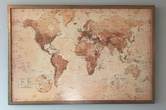 232 best carte du monde images on pinterest cards worldmap and 24 x 36 custom world map cork board by dudianddani on etsy gumiabroncs Gallery