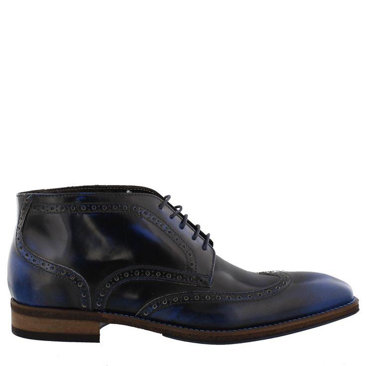 Mooie Giorgio halfhoge schoenen 47951 in blauw poetsleer.