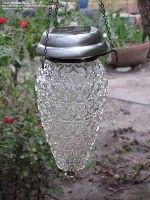 Great vintage solar garden light.