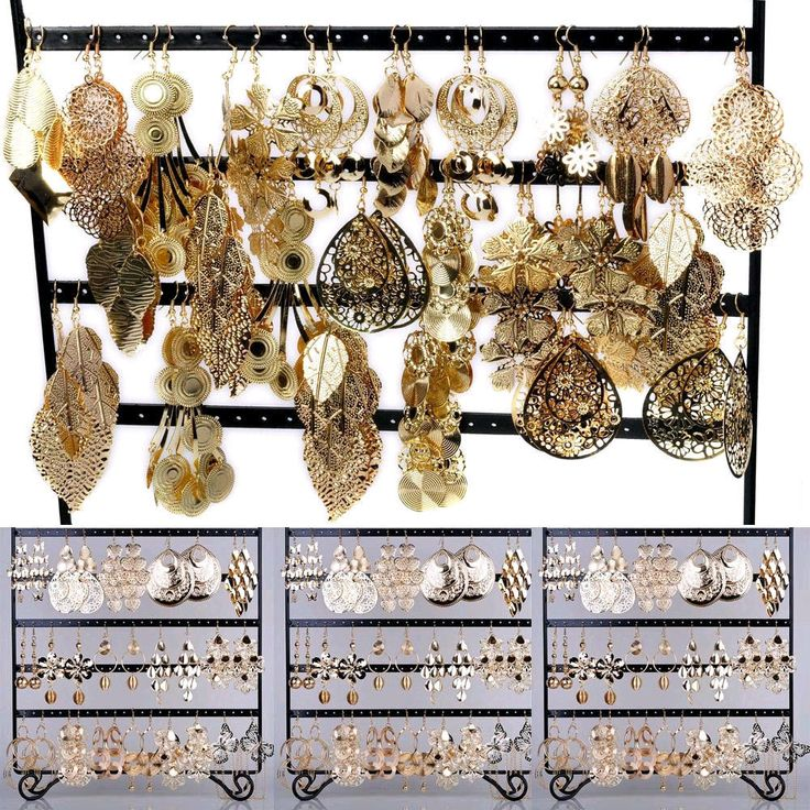 12PRS Wholesale Jewelry Lots Mixed Style Gold Plated Fashion Dangling Earrings | eBay