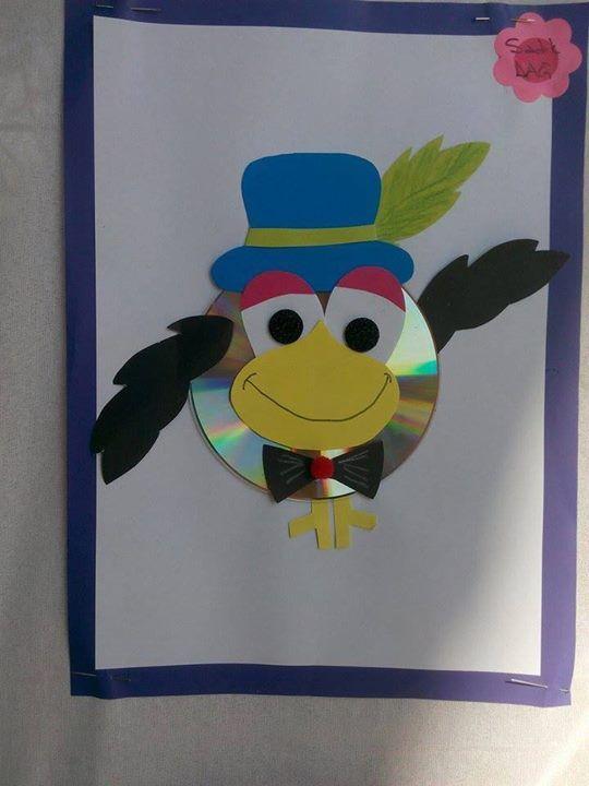cd bird craft