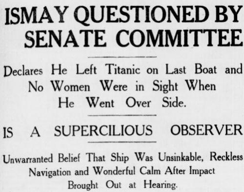 Titanic: History, Historic Titanic, Historical Flashes, Unsinkable April 14 15 1912, Ship, Rms Titanic, Senate Investiagtion, Photo