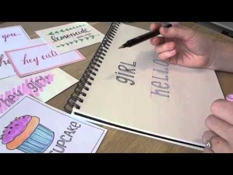 ▶ Simple Hand Lettering- A Step by Step for Beginners -block lettering & calligraphy!