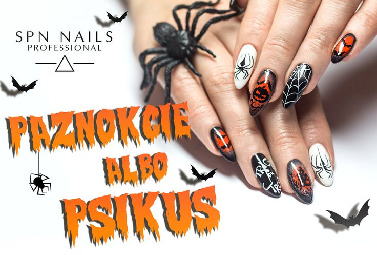 LIKE IT? PIN IT! <3 #Halloween to wyjątkowe święto pełne duchów, potworów, czarnych kotów, dyń groźnie szczerzących zęby i szalonych stylizacji w iście szatańskim stylu. W skład limitowanego, halloweenowego zestawu lakierów hybrydowych wchodzą trzy królujące tego dnia kolory:  502 (klik: http://bit.ly/502halloween)  503 (klik: http://bit.ly/503halloween)  513 (klik: http://bit.ly/513halloween)  #SPNnails #lakieryhybrydowe #halloweennails #inspiracje #inspirationsnails #nails