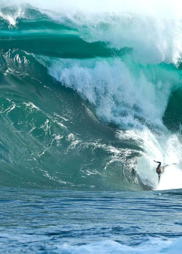 Being eaten by the wave - Shipstern's Bluff