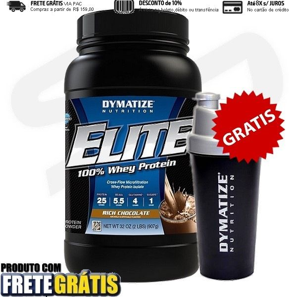 Elite 100% Whey Protein, 907g da Dymatize Nutrition