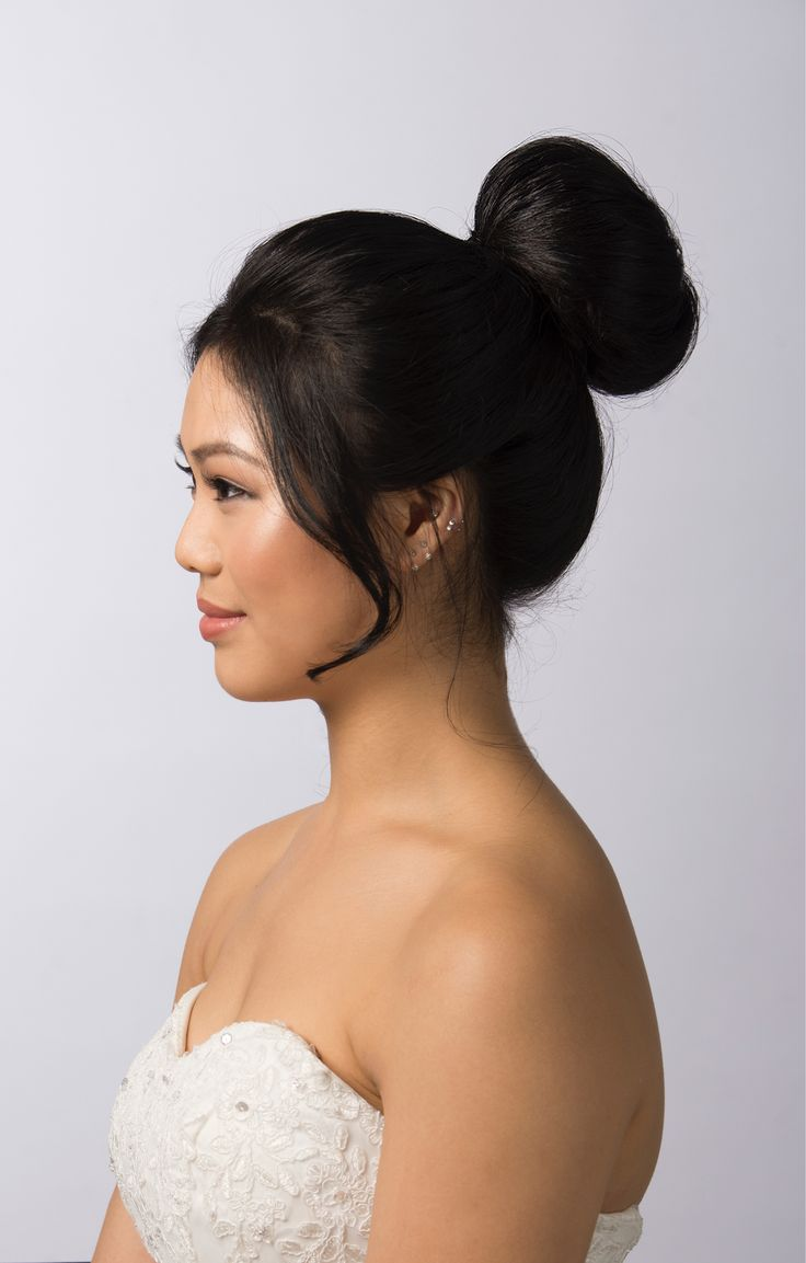 A perfect high bun to match an elegant bridal look. Hair and Makeup by Zoe Zhu Hair and Makeup www.zoezhu.com.au