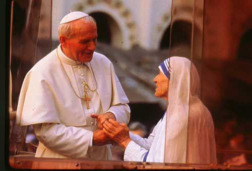 Juan Pablo II con la Madre Teresa de Calcuta #Catholic
