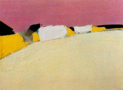 'Landscape: the road to Uzes', 1954  by Nicolas de Stael  Oil on Canvas  www.gesah.blogspot.com