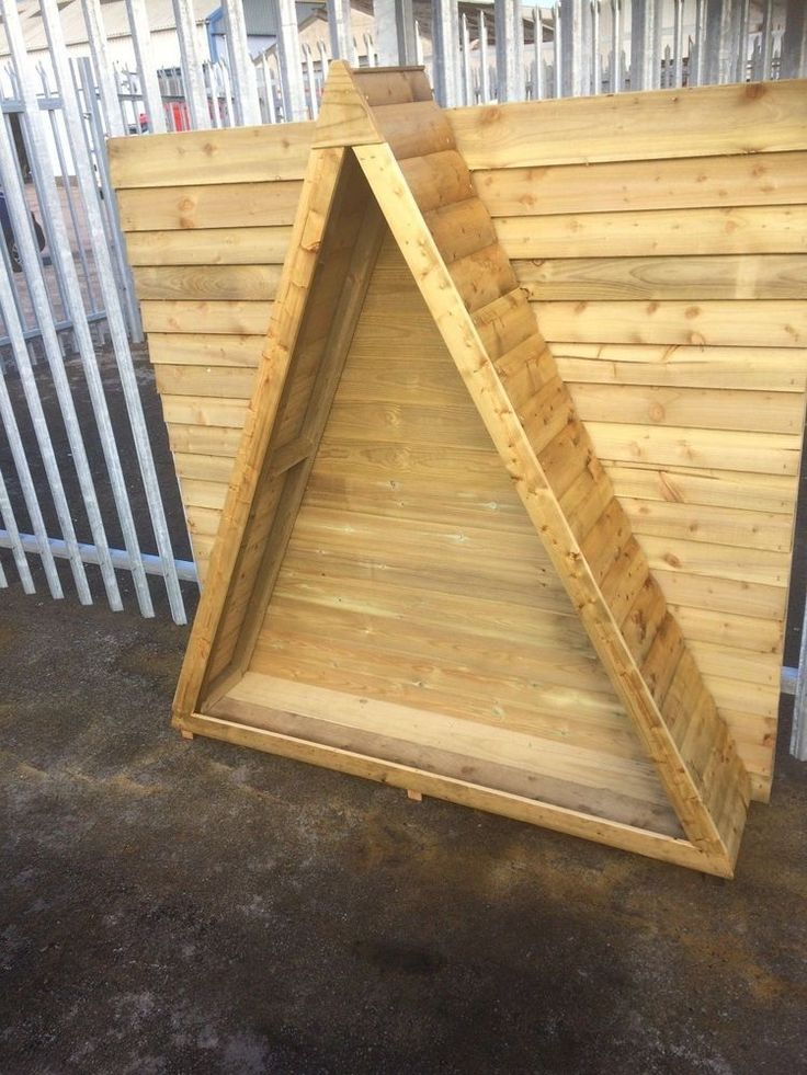 Triangle Logstore,6ft tall,Assembled,tanalised timber,best Quality. #RosetteGardenProducts