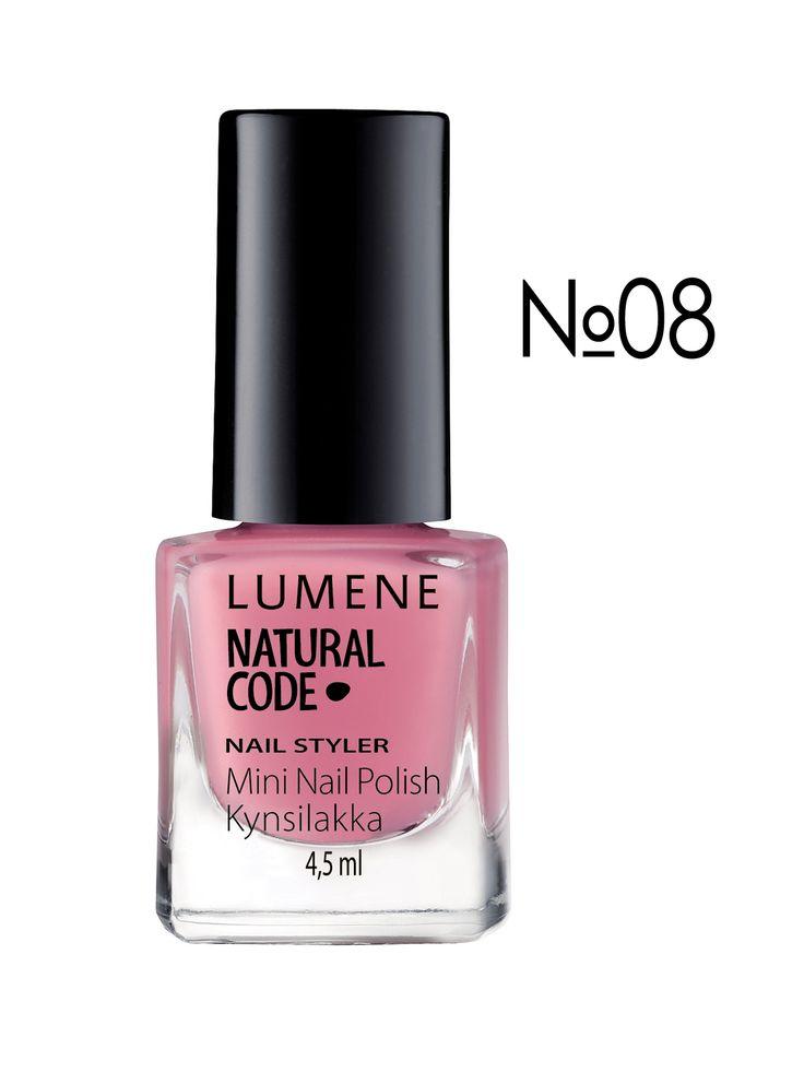 Лак для ногтей NC Nail Styler увлажняющий № 08 - светло-розовый (4,5 мл) - Lumene, акция действует до 8 декабря 2014 года | LeBoutique - Коллекция брендовых вещей от Lumene