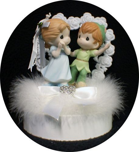 peter pan and wendy wedding cake topper precious moments cake topper pan precious moments 18306