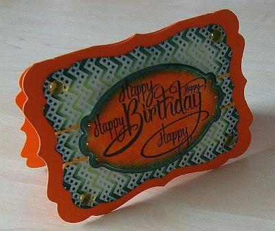 Stempeltechnik, Spellbinders, Rubbernecker, Shaped Cards, Happy Birthday