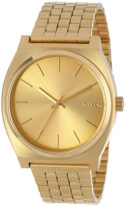 Nixon Men's A045-511 Stainless-Steel Analog Gold Dial Watch: Watches: Amazon.com