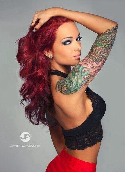 tatueringar massage rött hår