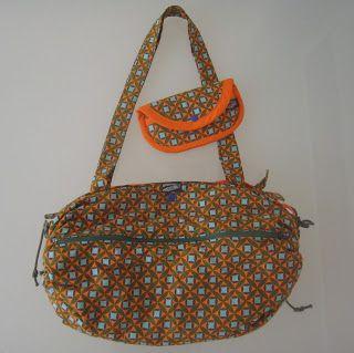 Bolso toalla naranja con funda de gafas a juego!