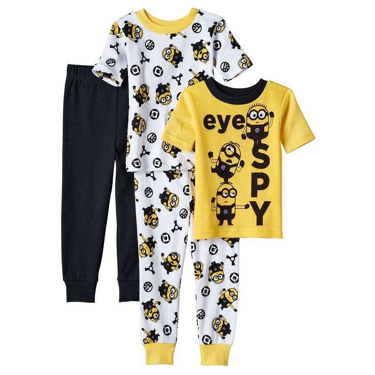 Toddler Boy Despicable Me 3 Minions Tops & Pants Pajama Set, Size: 2T, Multicolor