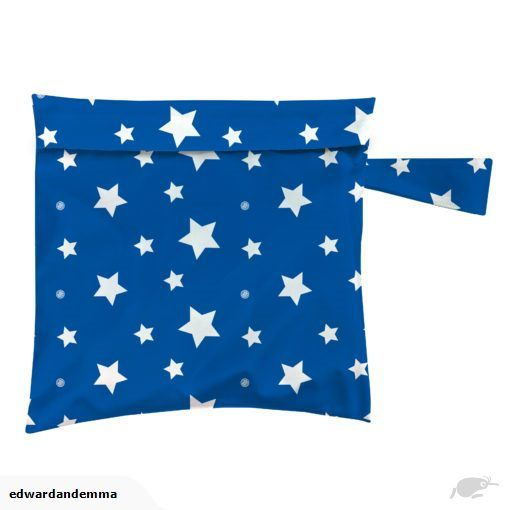 Charlie Banana® Reusable Waterproof Tote Bag | Nappy Wet Bag White Stars on Blue