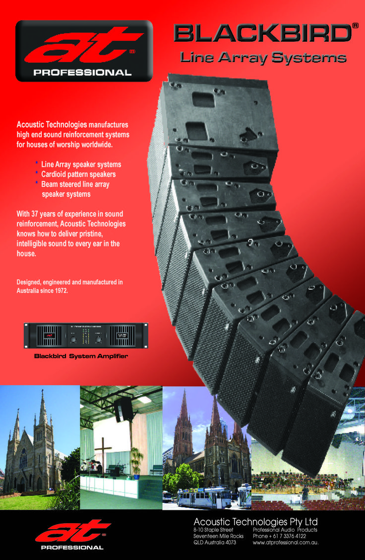 #ATProfessional - Products - The TLA306 Blackbird Line Array System is ideal for compact touring systems, outdoor music festivals and sporting events, corporate presentations and a wide range of in-house sound reinforcement applications including houses of worship, theatres and showrooms. #pasystem #audiotechnology #linearray