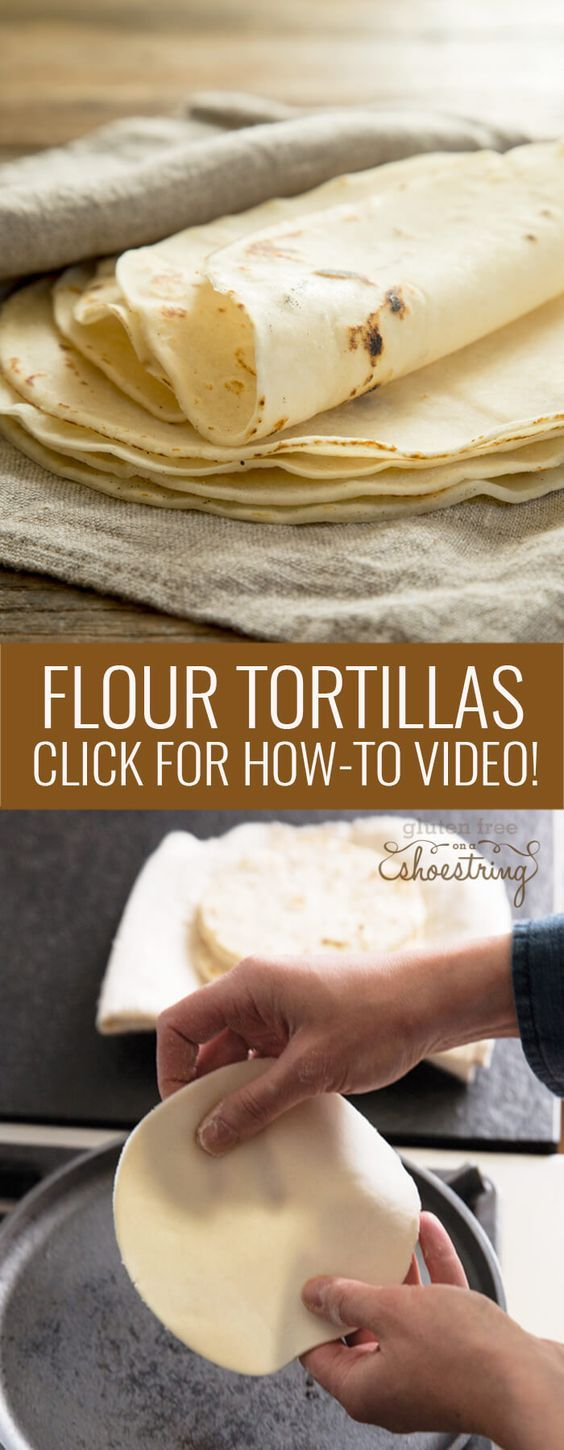 This recipe for gluten free flour tortillas makes the perfect soft, flexible tortillas. Make the best burritos and soft tacos. Click for the how-to video!