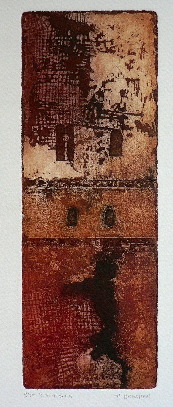Catalonia original soft ground steel plate etching