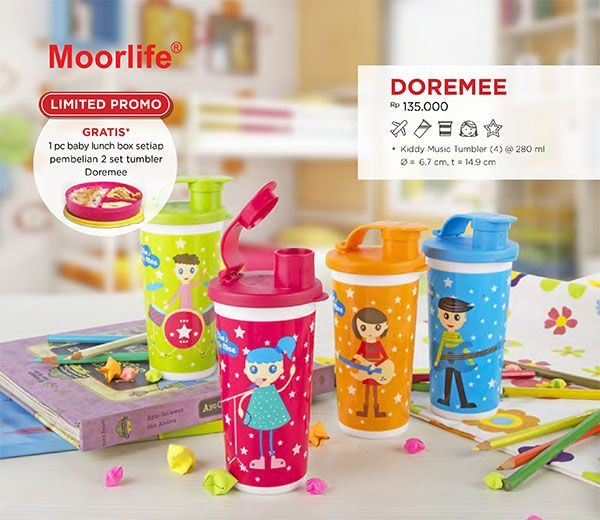 Moorlife Doremi buy 2 get 1 baby lunch box