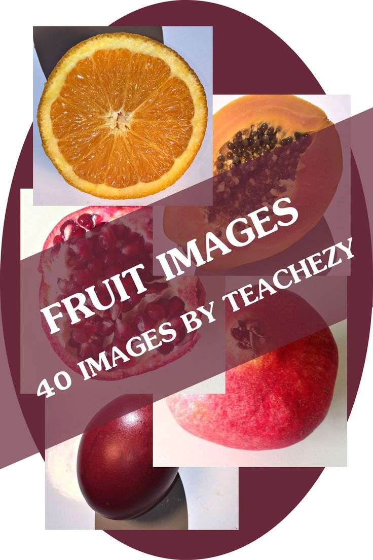 40 images of fruit to use in the classroom or for commercial use. PDF and JPEG available