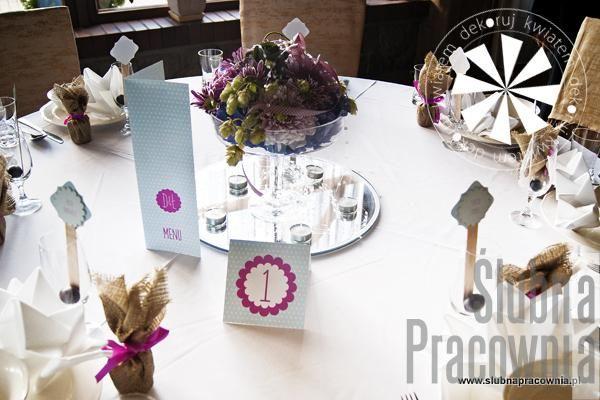 aranżacja stołów gości weselnych