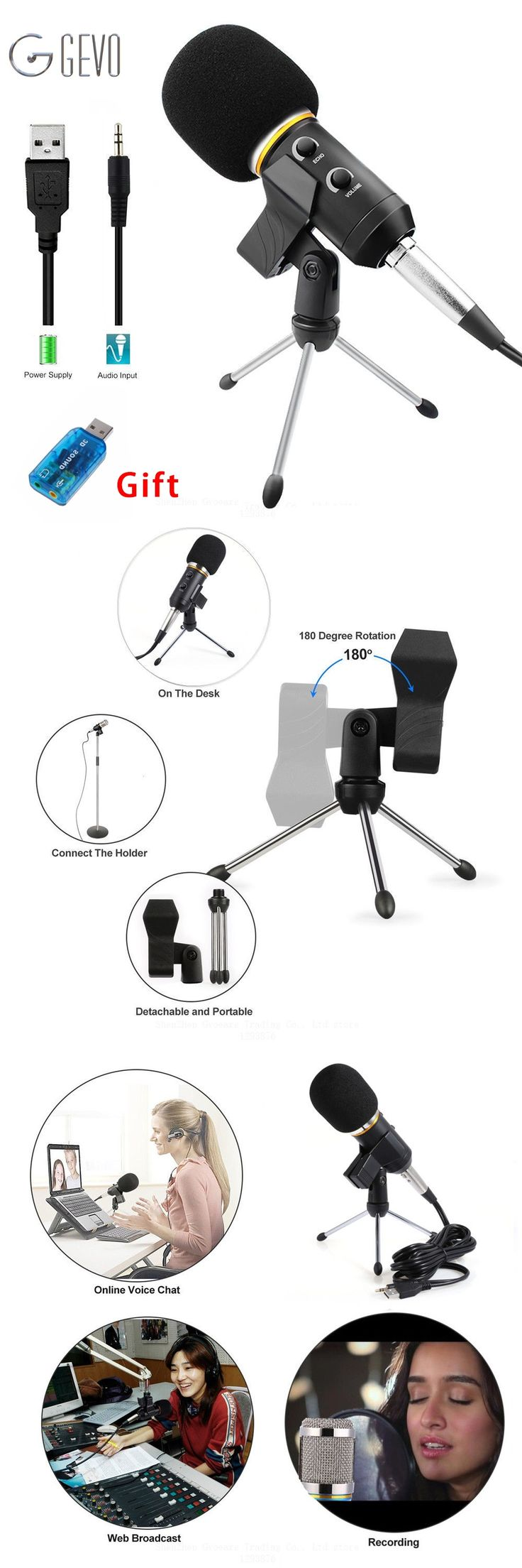 MK-F200FL Professional Microphone Wired Recording USB Condenser Microphones With System For Computer Karaoke Mikrofon Microfone
