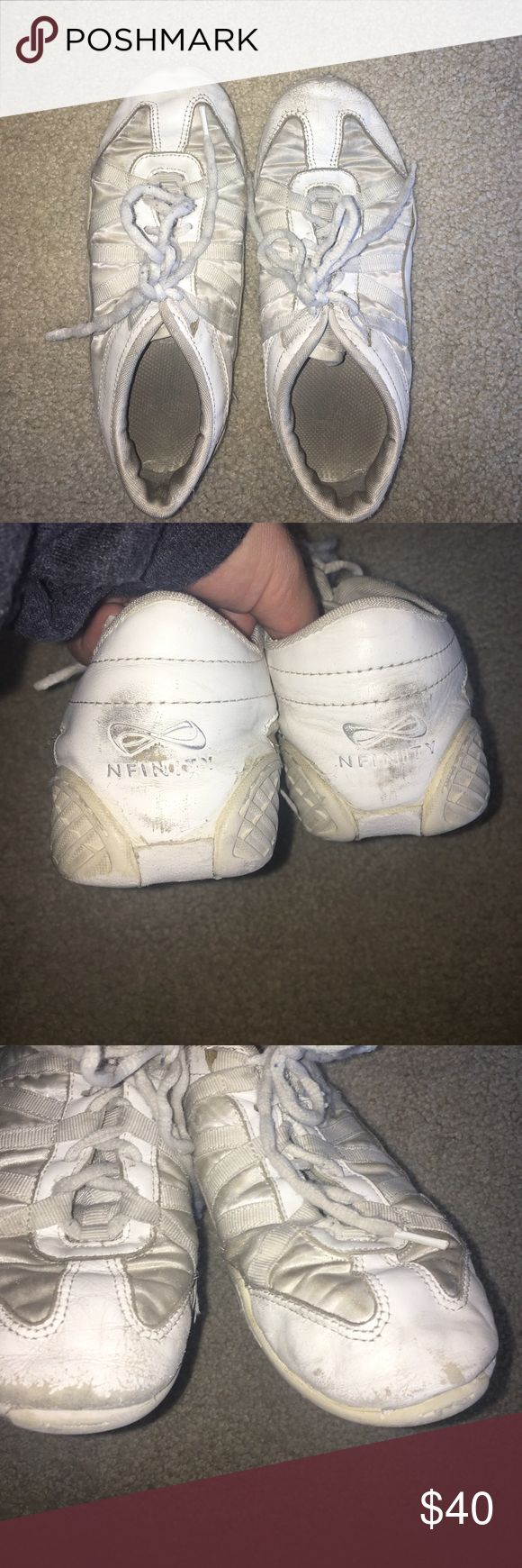 nfinity cheer shoes nfinity cheer shoes. worn. no holes, just black marks. 6.5 Nike Shoes Athletic Shoes