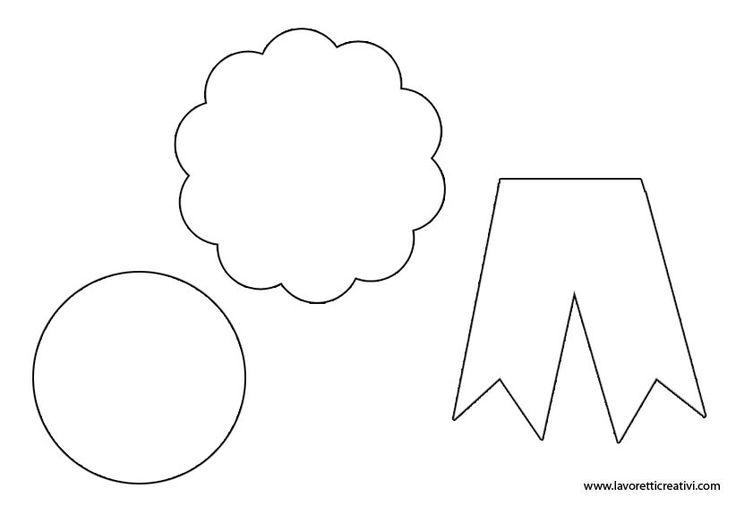 SAGOME di COCCARDA Sagome di varie forme da stampare sui cartoncini colorati e da ritagliare. Potete realizzare le coccarde in occasione di ricorrenze com