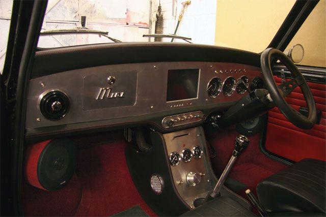 Classic Mini, Interior, Metal.