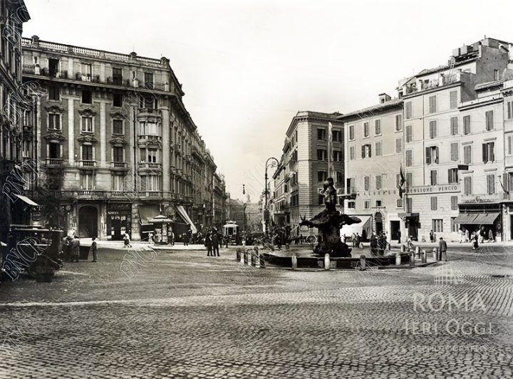 Piazza Barberini (1920 ca)