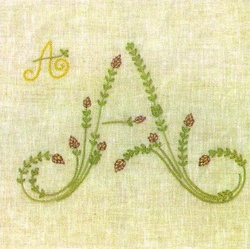 Stunning embroidered alphabet.