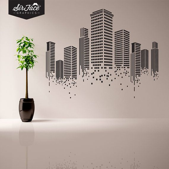 urban wall sticker office wall decal wall graphics vinyl wall sticker - Wall Design Decals