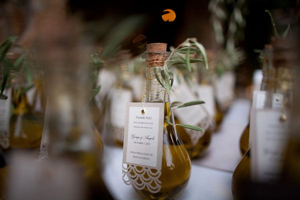extra virgin olive oil wedding favors.