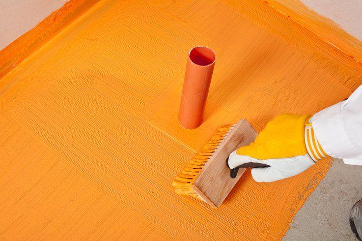 Folyékony fólia használata a fürdőszobában - Kemikál
