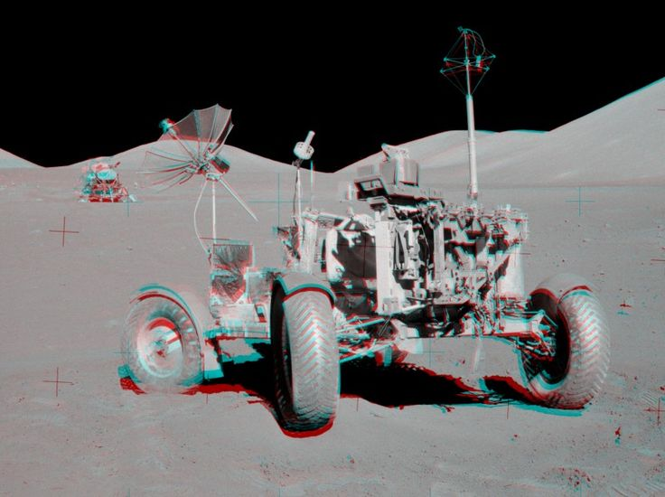 Astronomy Picture of the Day for 15 Mar 2014. Get out your red/blue glasses and check out this stereo scene from Taurus-Littrow valley on the Moon! The color anaglyph features a detailed 3D view of Apollo 17's Lunar Rover in the foreground -- behind it lies the Lunar Module and distant lunar hills.
