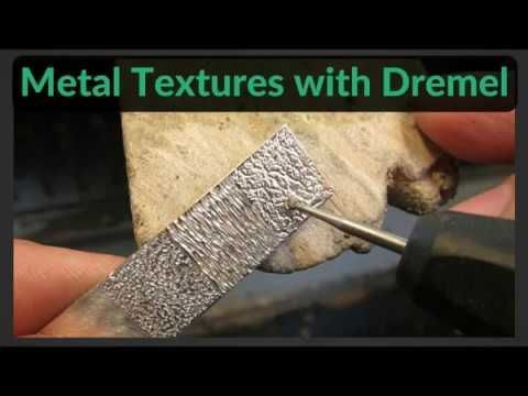 Making Textures in Metal with Dremel / Rotary Tool - YouTube