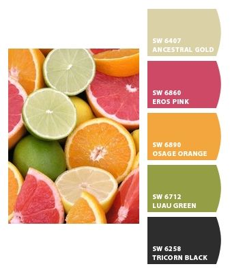 Citrus Paint...kitchen?  Paint colors from Chip It! by Sherwin-Williams