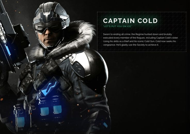 Captain Cold Injustice 2 Character Portrait | injustice.com