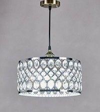Wish | Diamond Life 1-light Chrome Finish Modern Crystal Chandelier Pendant Hanging Lighting Fixture