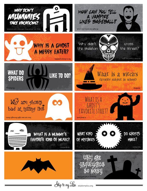 Halloween Jokes for Kids {Free Halloween Lunch Box Jokes