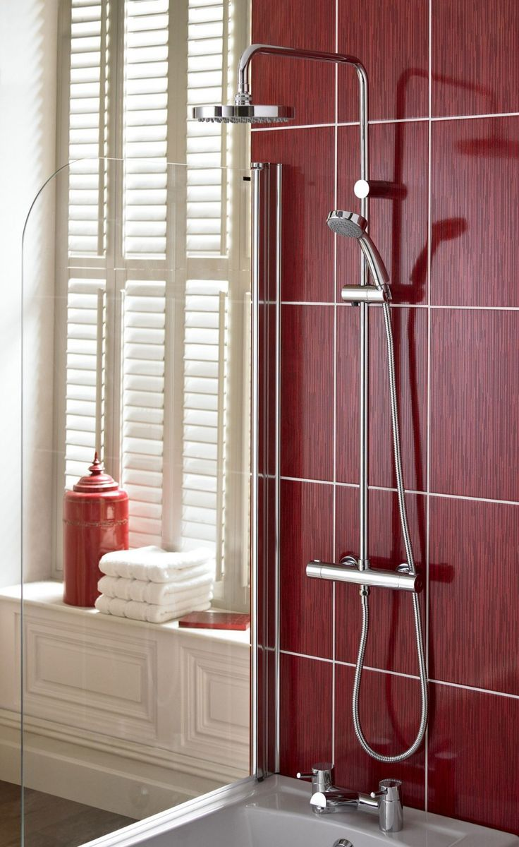 Showers: Make a Perfect Bathing : Red Showers #shower #ideas #unique