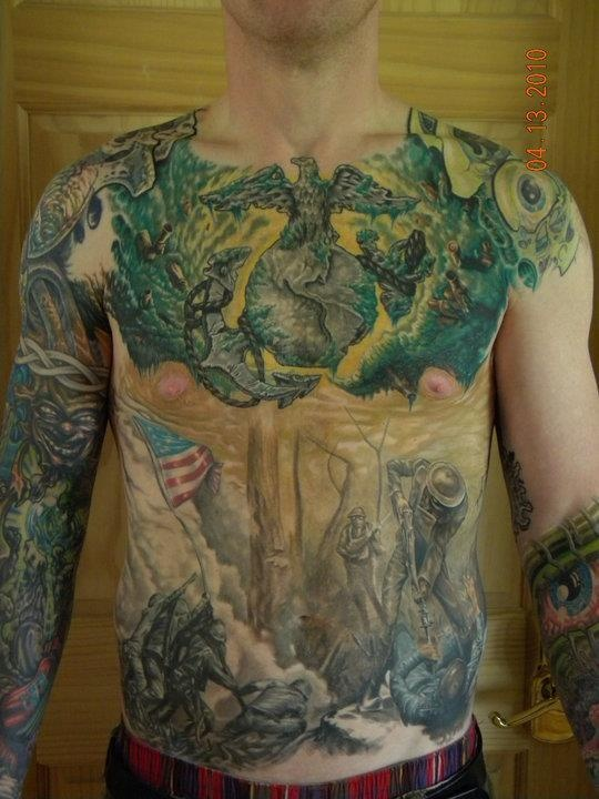 17 best images about marine corps tattoos on pinterest for Marine tattoo sleeves