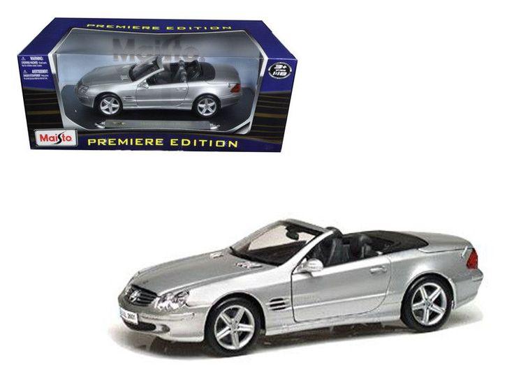 Mercedes SL Class Convertible Silver 1/18 Diecast Car Model by Maisto