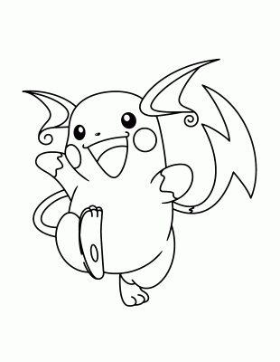 dibujos de pokemon para imprimir en blanco y negro