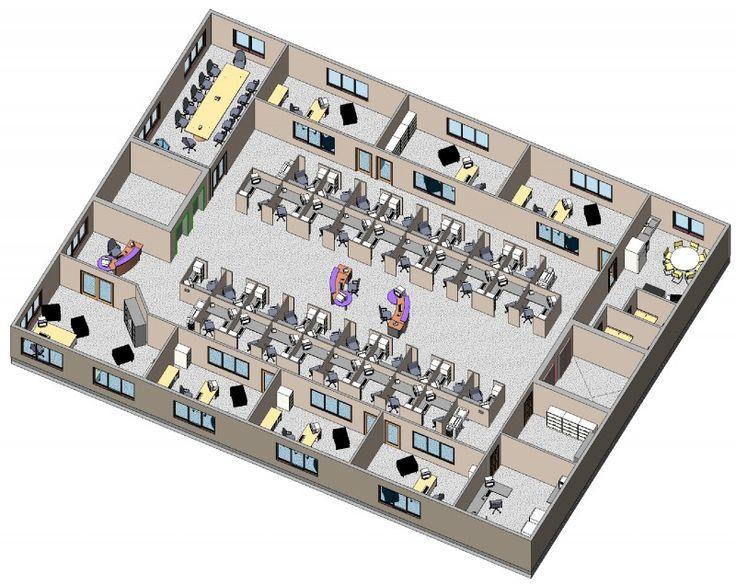 Modern 3d office layout design ideas for corporations for Modern office design layout