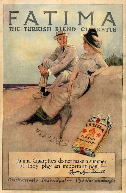 Vintage Advert for Fatima Cigarettes 1914 | Flickr - Photo Sharing! www.smokefreeelectroniccigarettes.com